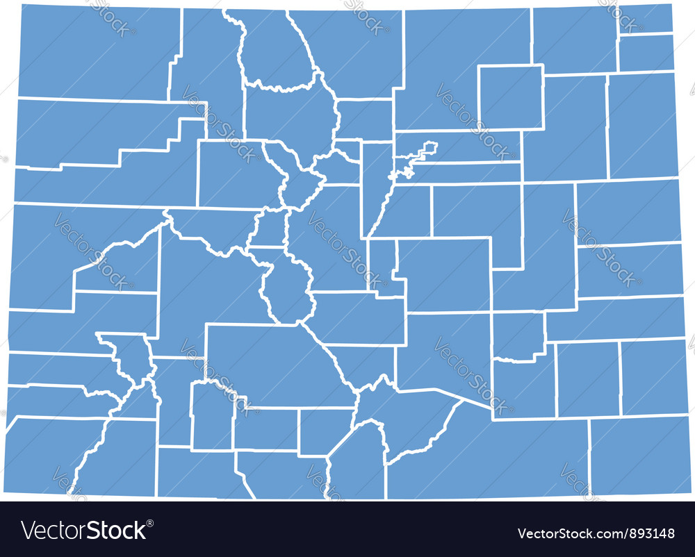 State Map of Colorado by counties