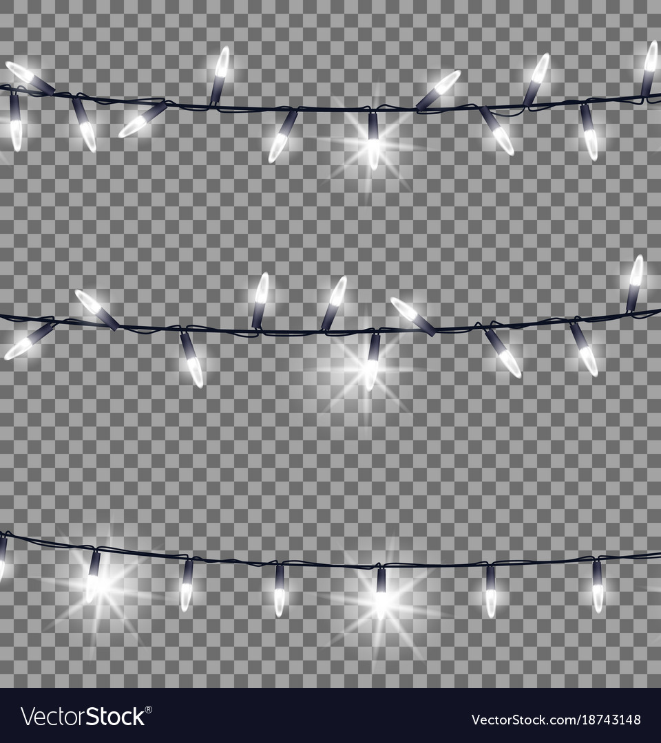 Strings Of Glowing Christmas Lights Royalty Free Vector