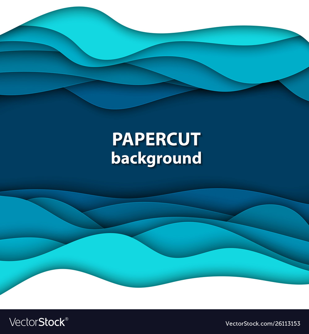 Background with deep blue and white color paper