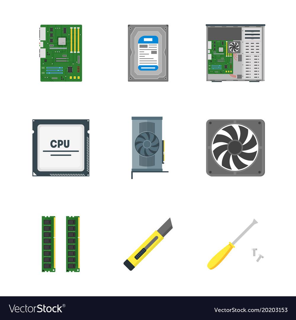 Cartoon personal computer components