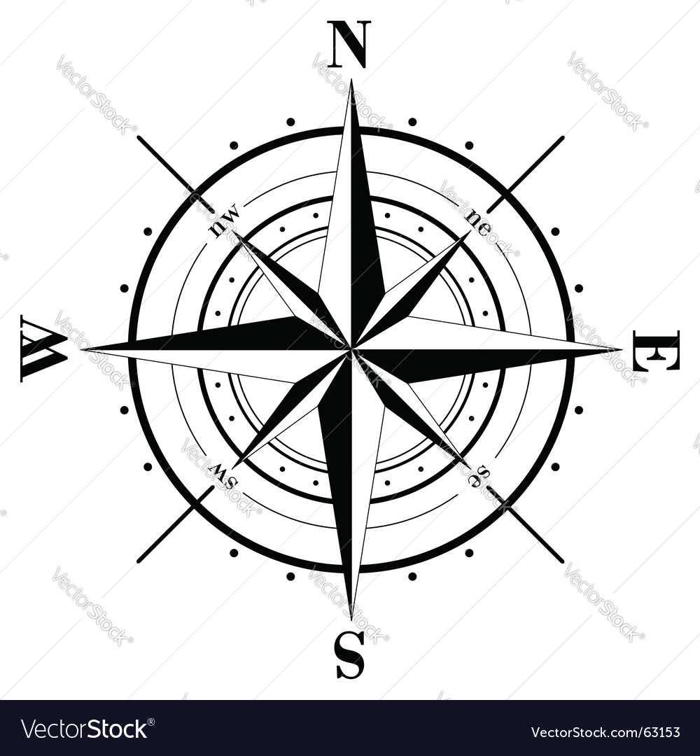 compass rose royalty free vector image vectorstock rh vectorstock com compass rose vector graphics compass rose vector graphics