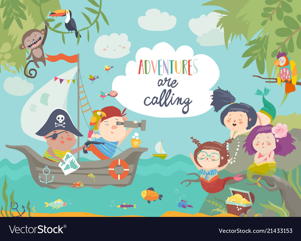 Image result for [pirates and mermaids