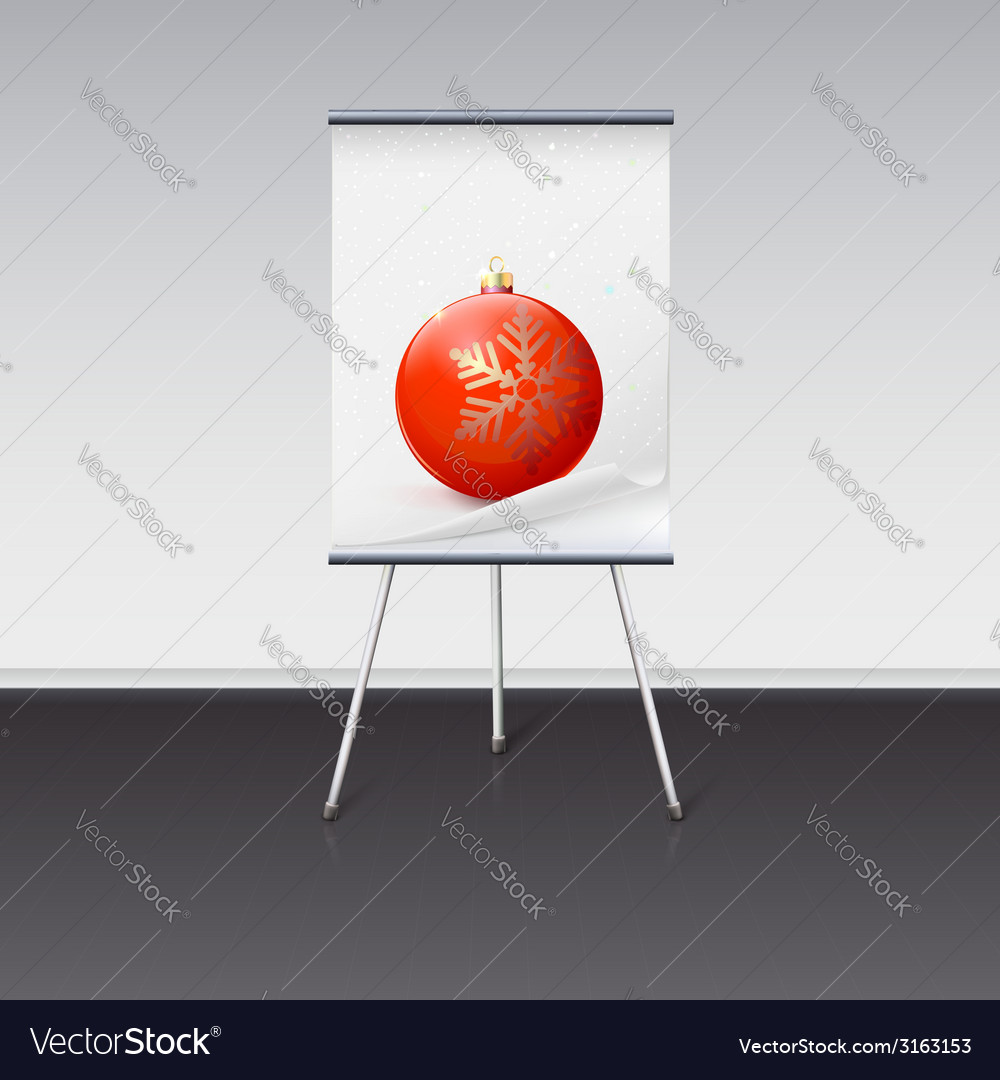 Picture A Christmas Flipchart.Flipchart With A Christmas Ball On It