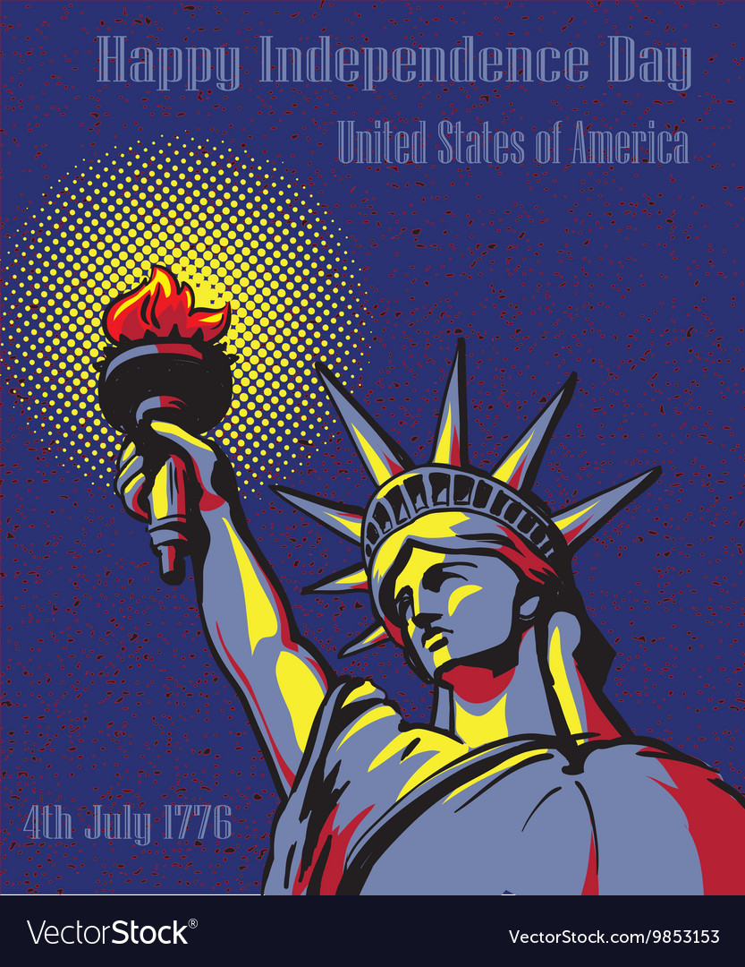 Happy Independence Day 4 July US holidays concept