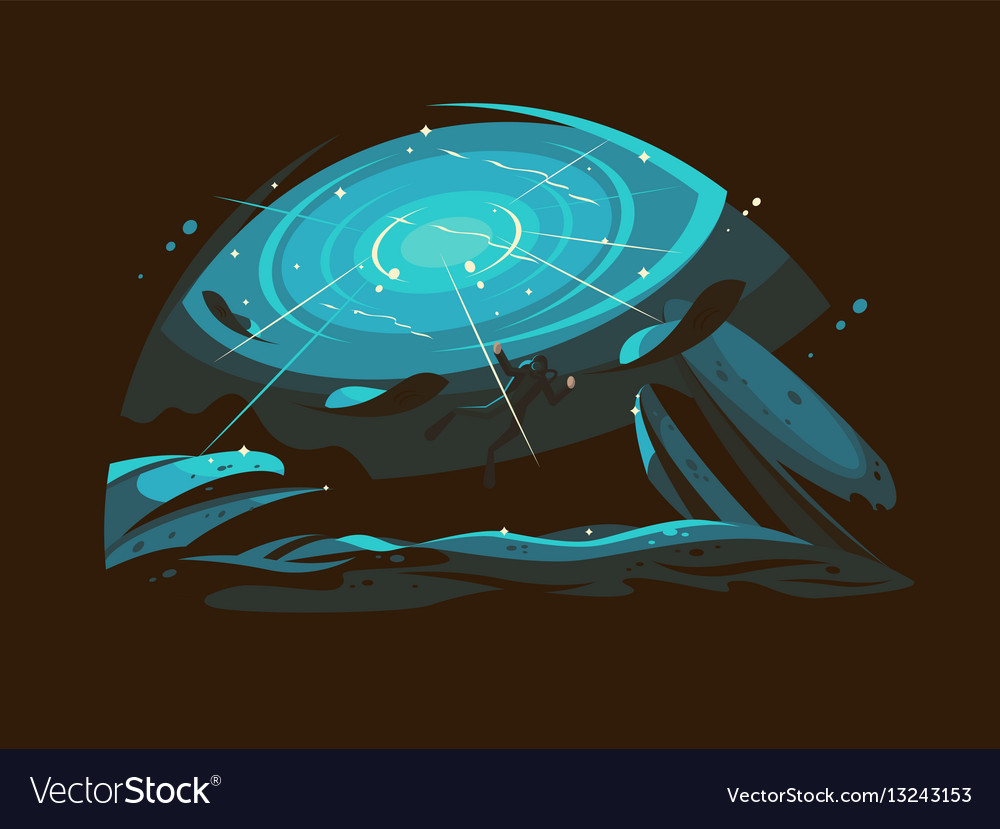 Hobbies diving to sea vector image