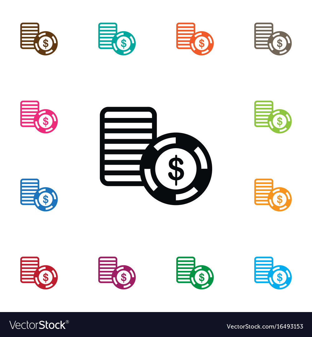 Isolated stack icon disk element can b