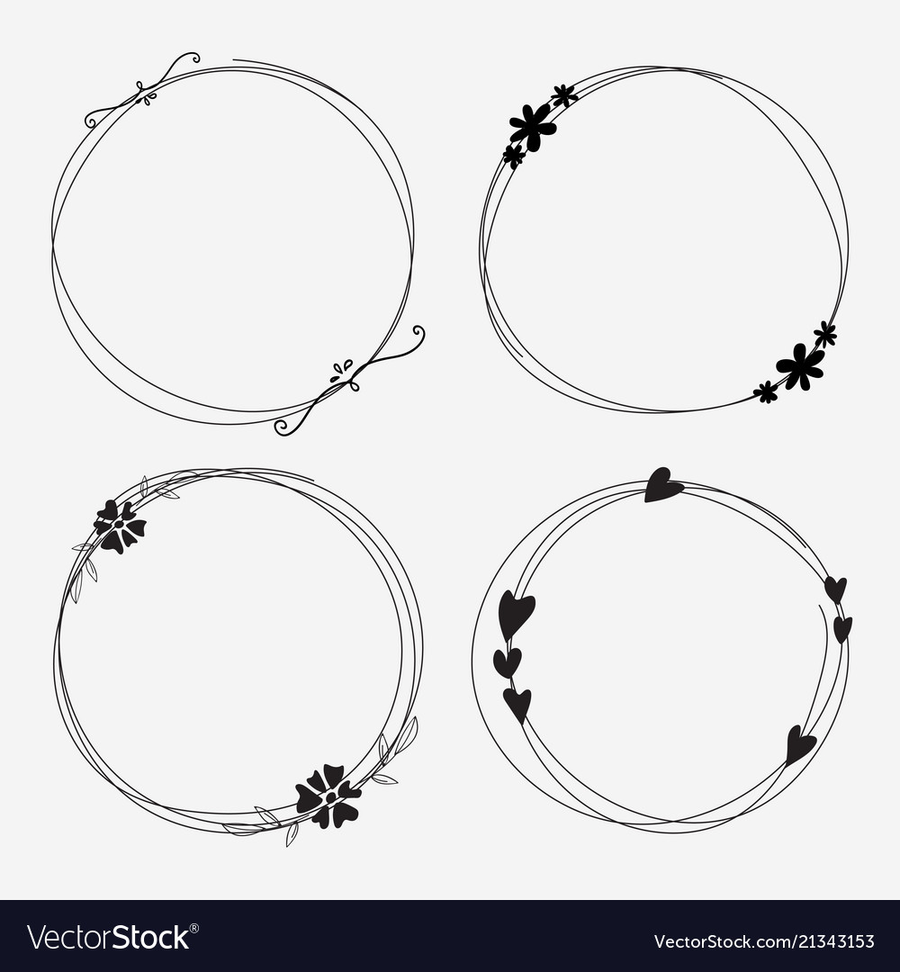 Set of dividers round frames for decoration