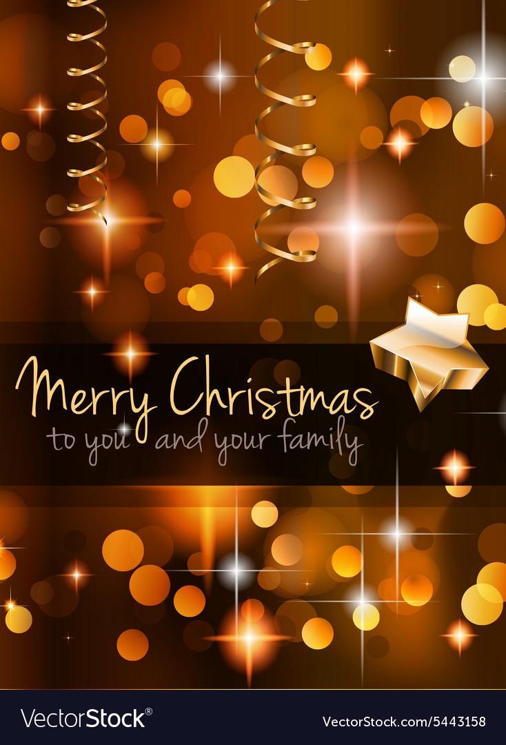 2015 Christmas Golden Background vector image