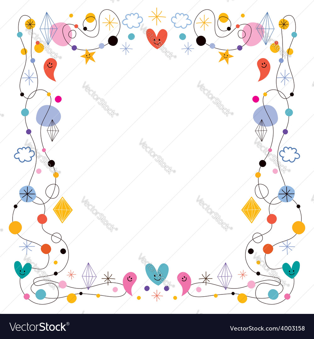 Abstract art cute frame Royalty Free Vector Image