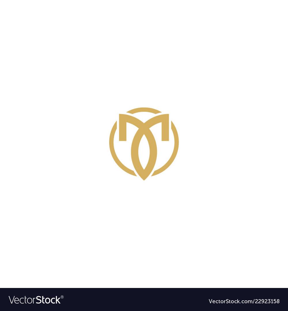 Abstract luxury initial company logo
