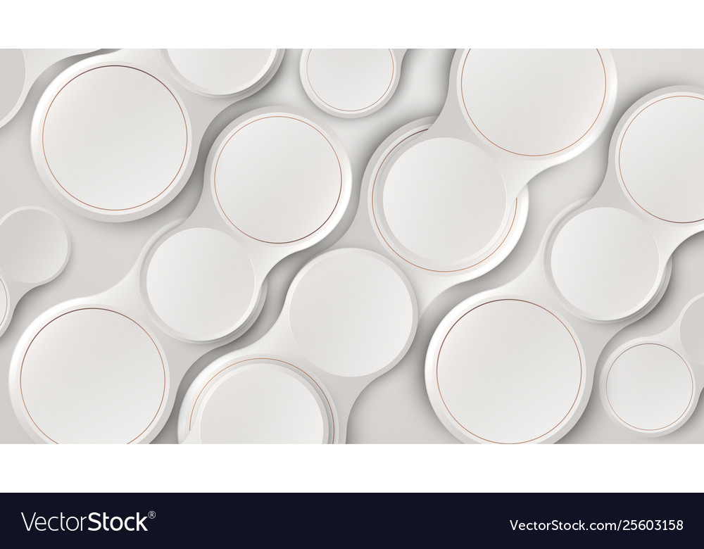 Abstract white 3d circles pattern minimalist