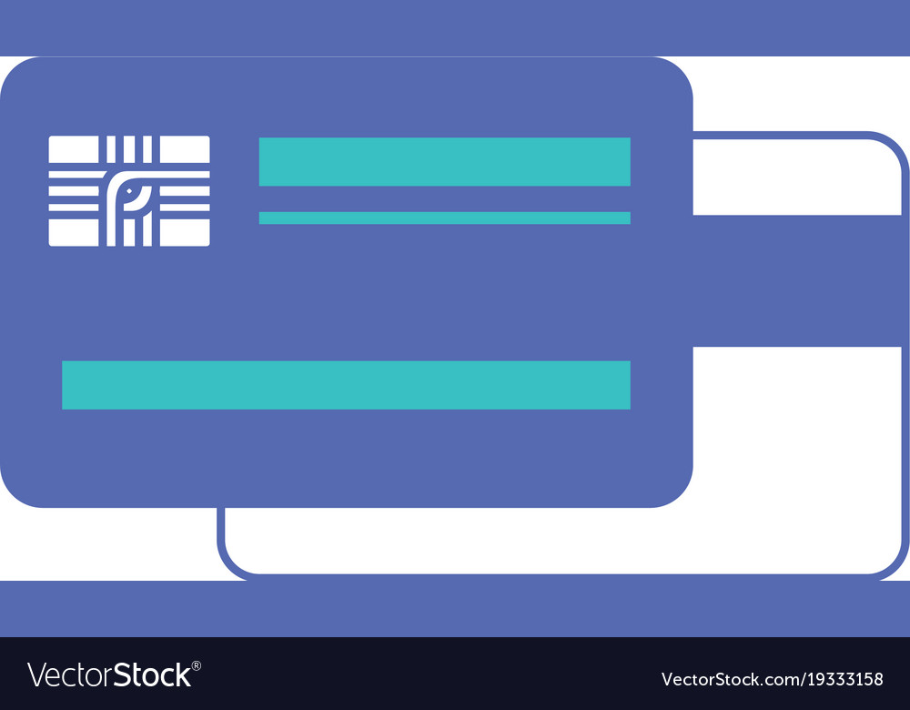 Credit card both sides in blue and purple color
