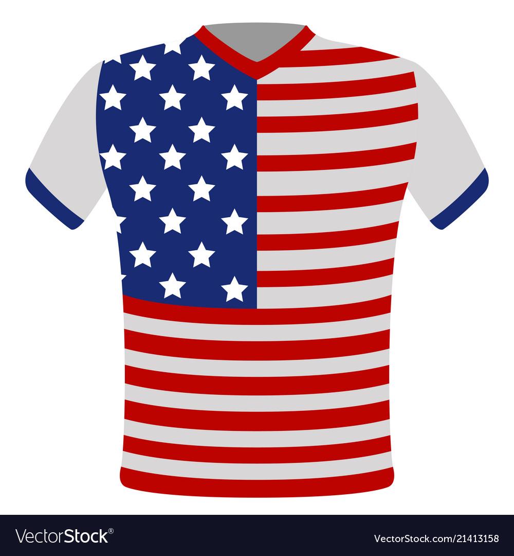 Flag t-shirt of united states