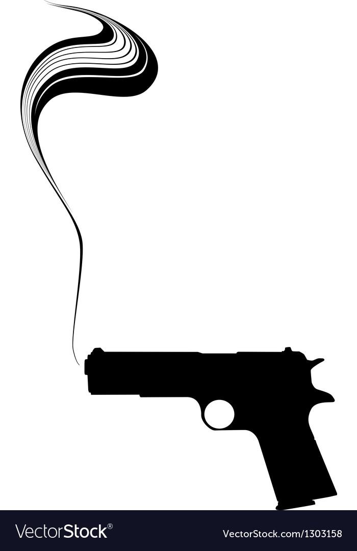 Graphic Smoking Gun vector image
