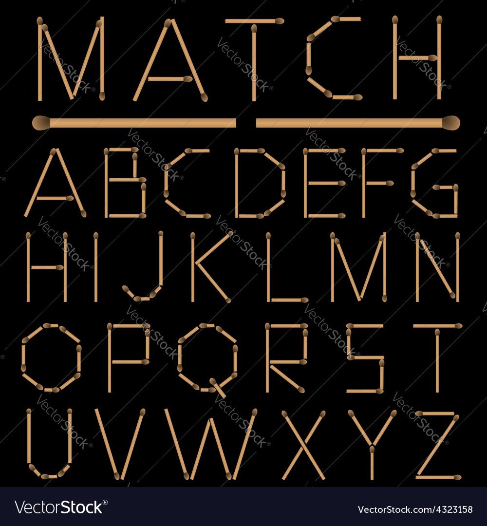 Matches Alphabet