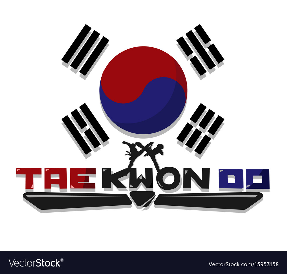 Taekwondo Martial Art Royalty Free Vector Image