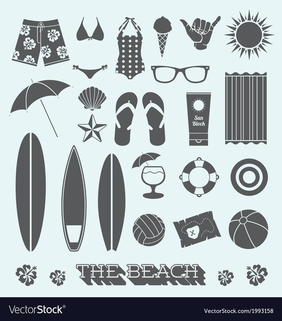 Under sun beach icons