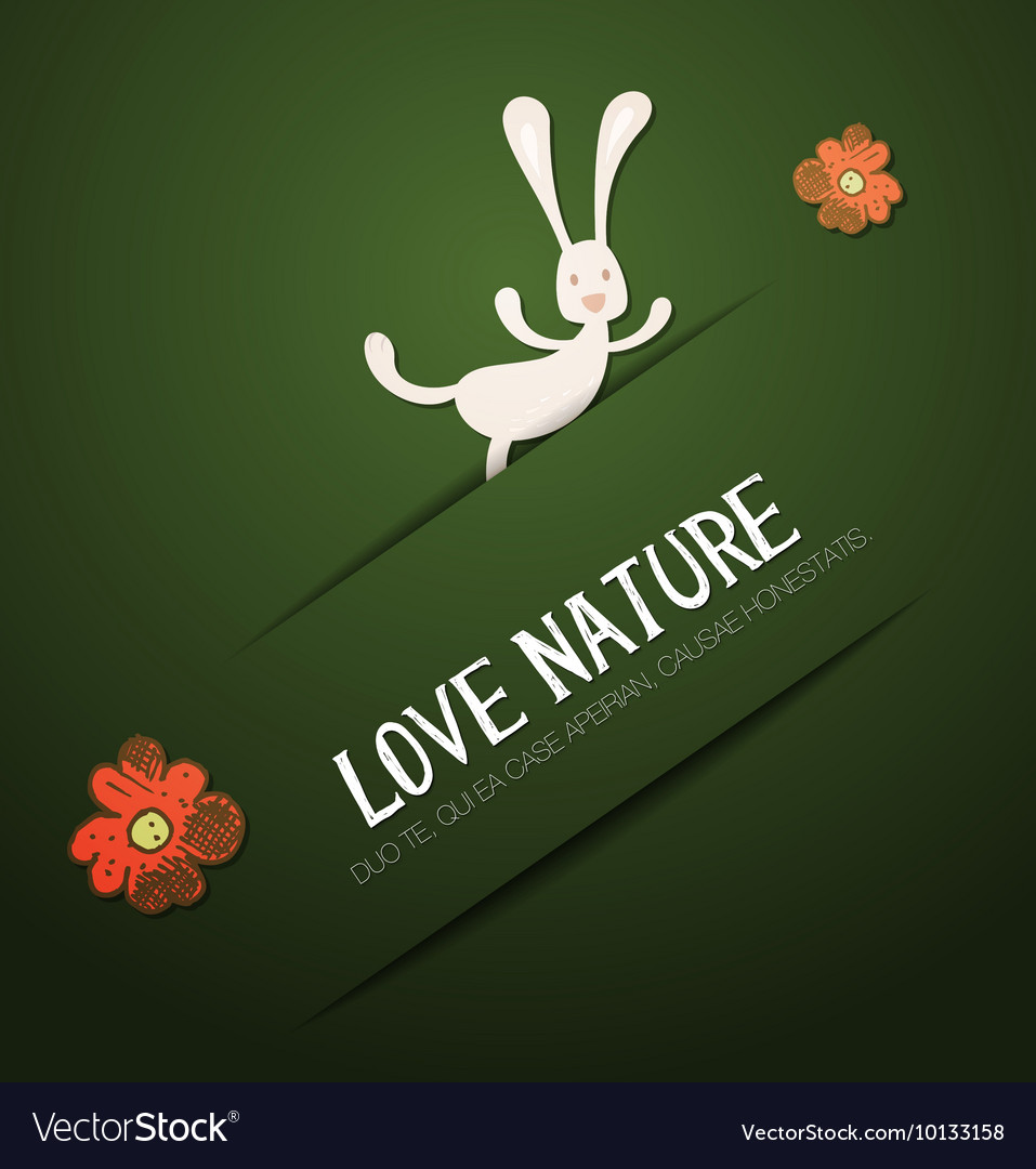 With nature and flower