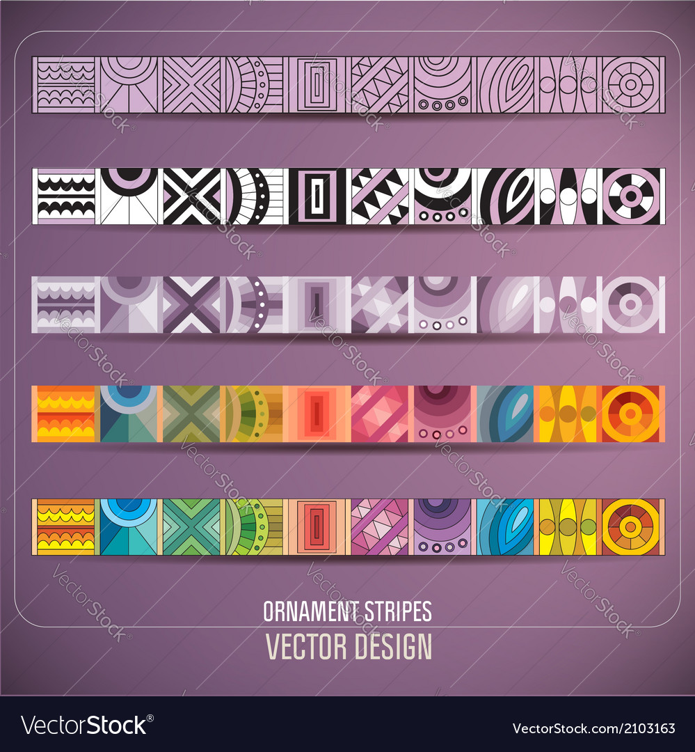 Abstract ornamental stripes