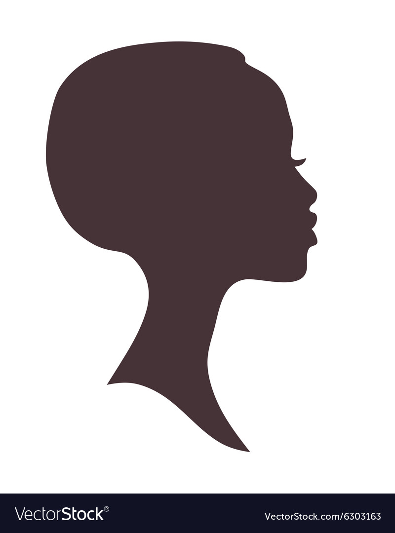 African woman face silhouette