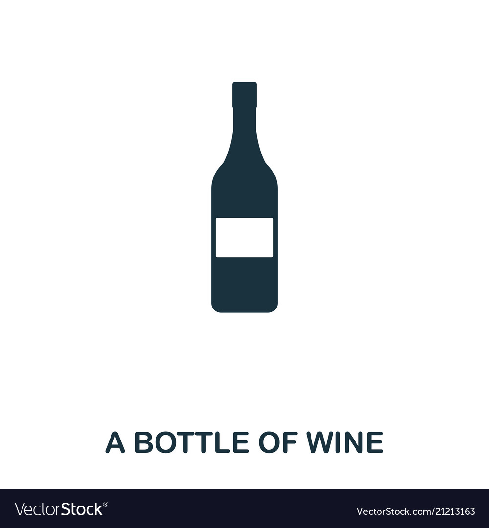Bottle of wine icon line style icon design ui