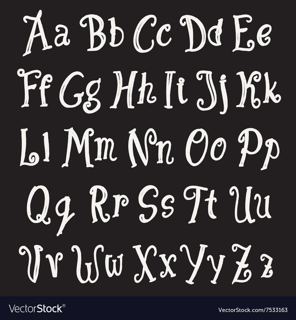 Chalk alphabet set vector image