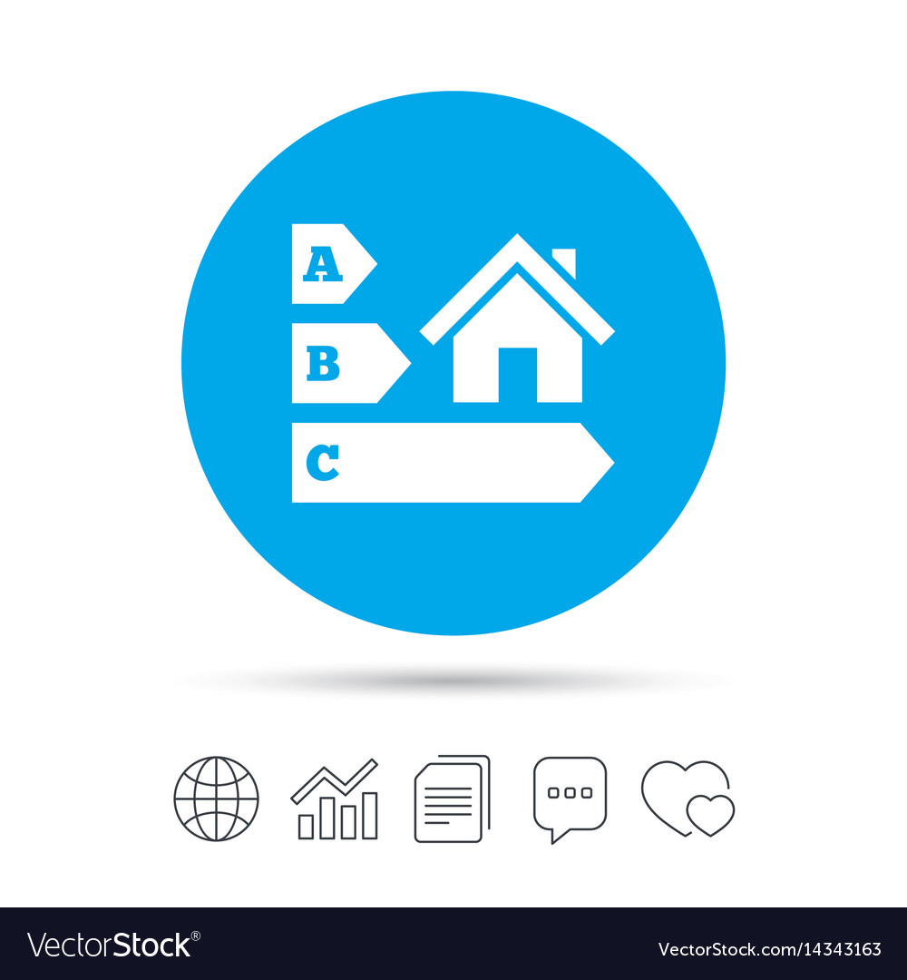 Energy efficiency icon house building symbol vector image ccuart Choice Image