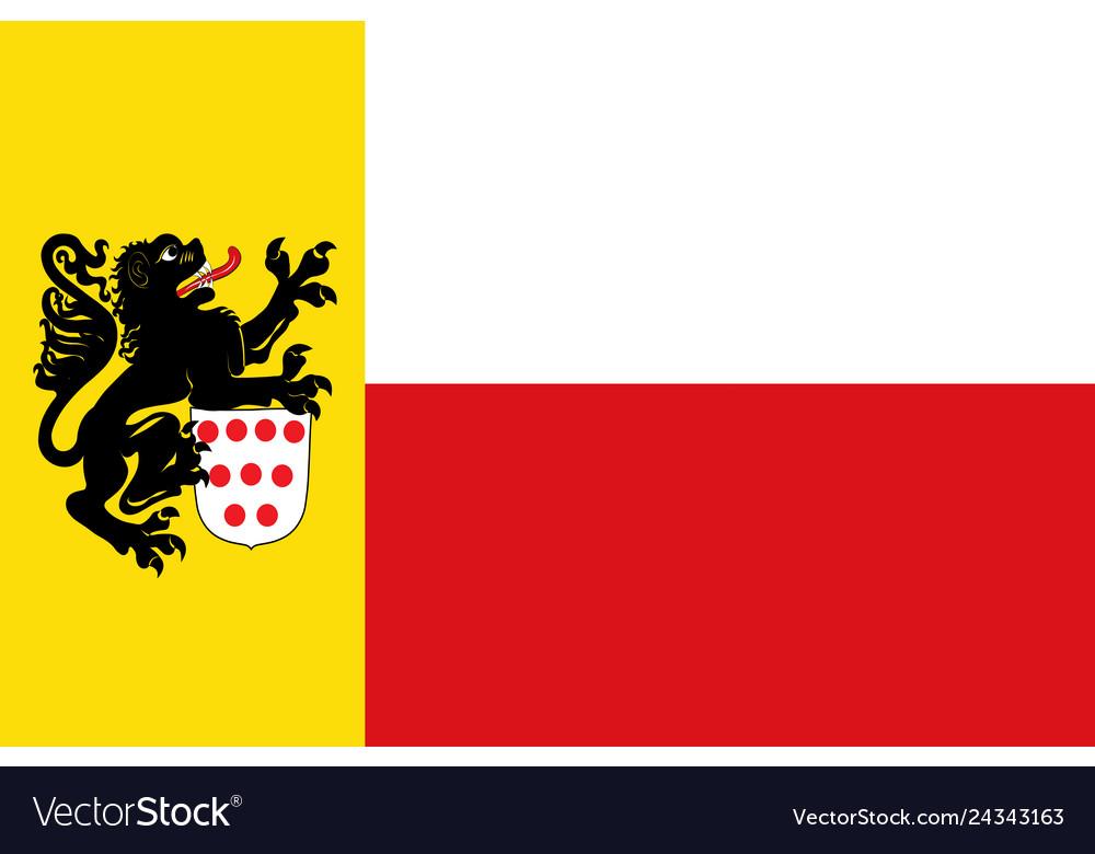 Germany North Rhine-Westphalia State Small Hand Waving Flag