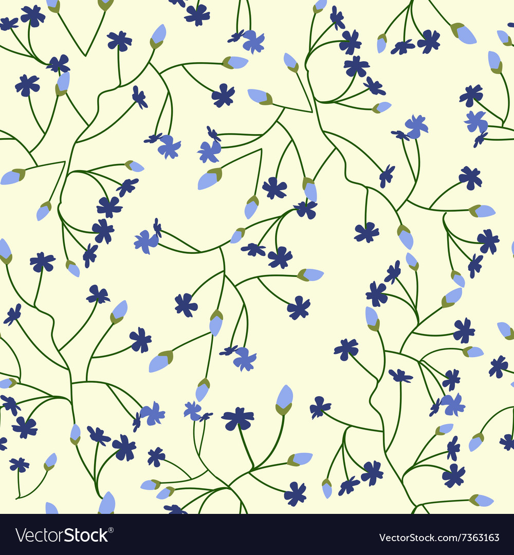 Floral background with small flowers