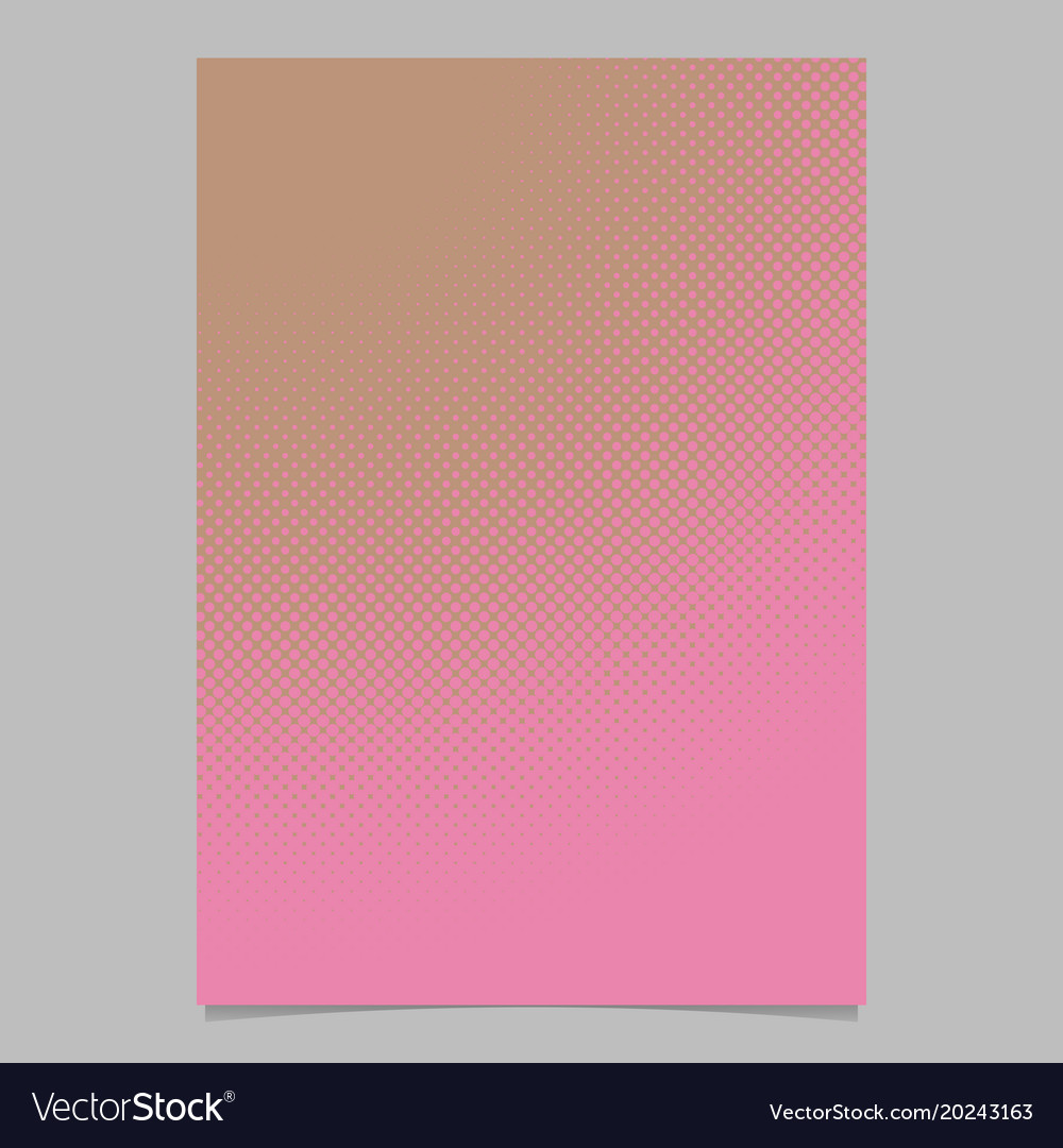 Halftone dot pattern brochure background template