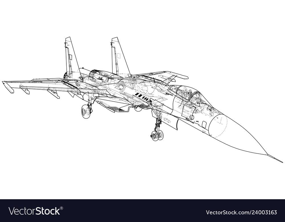 Military plane fighter jet