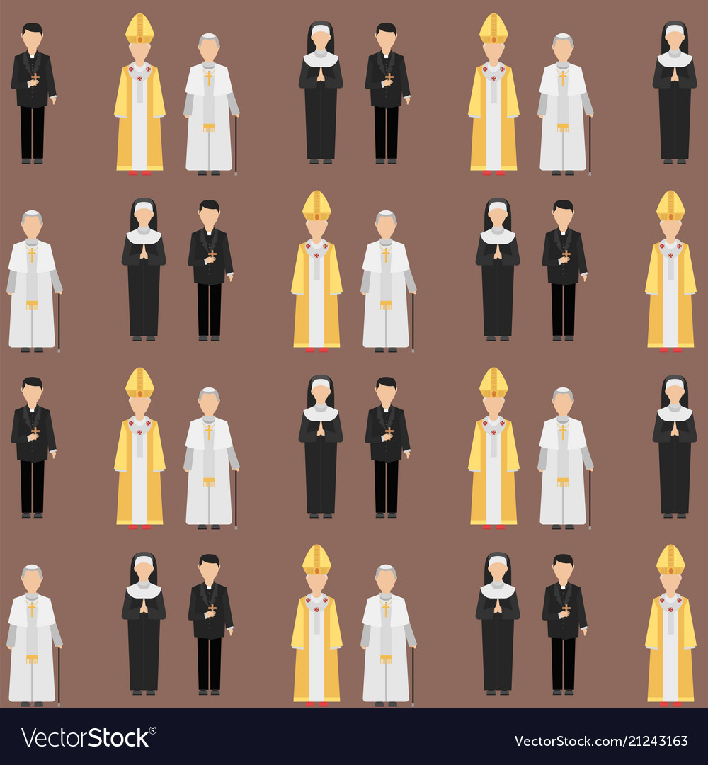 Religion people characters group of