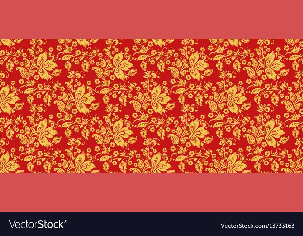 Russian hohloma seamless pattern background