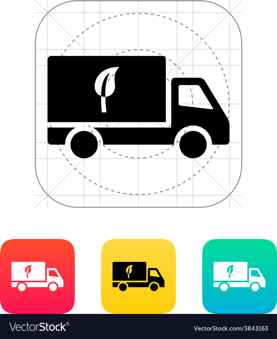 Truck with eco icon