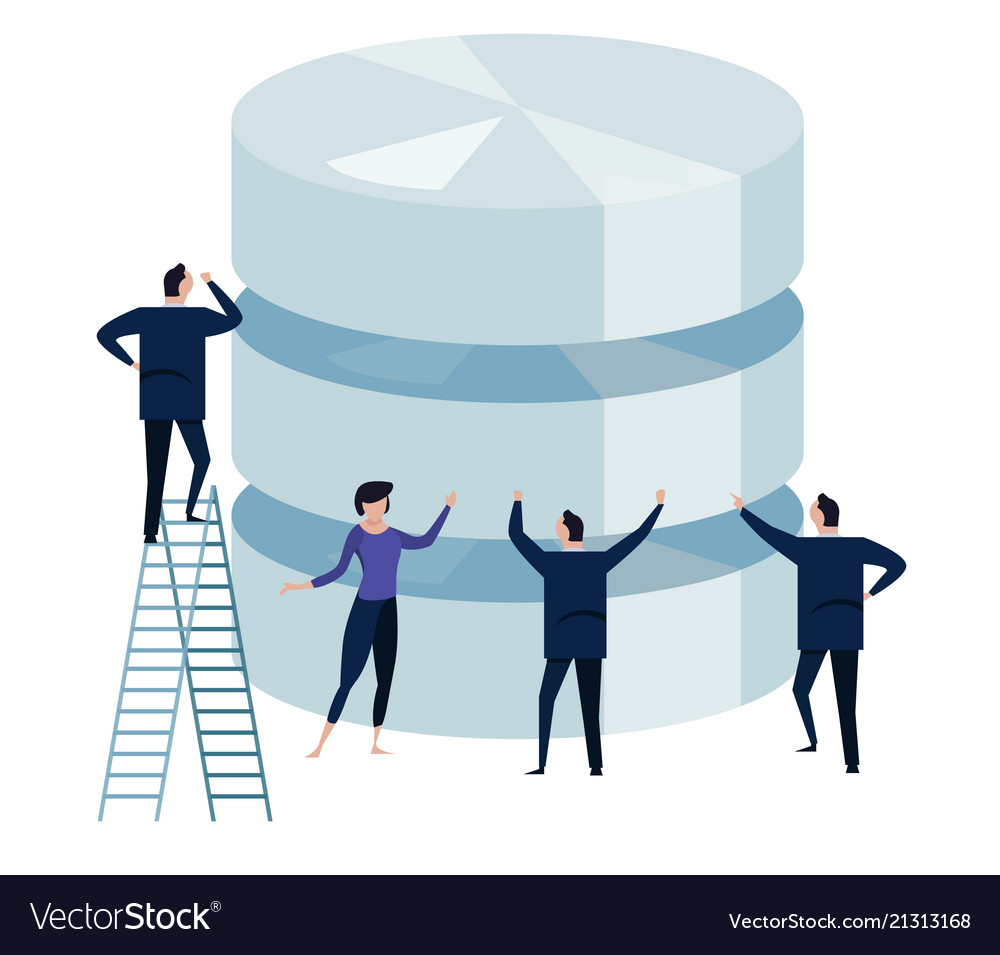 Big data concept of managing large database by