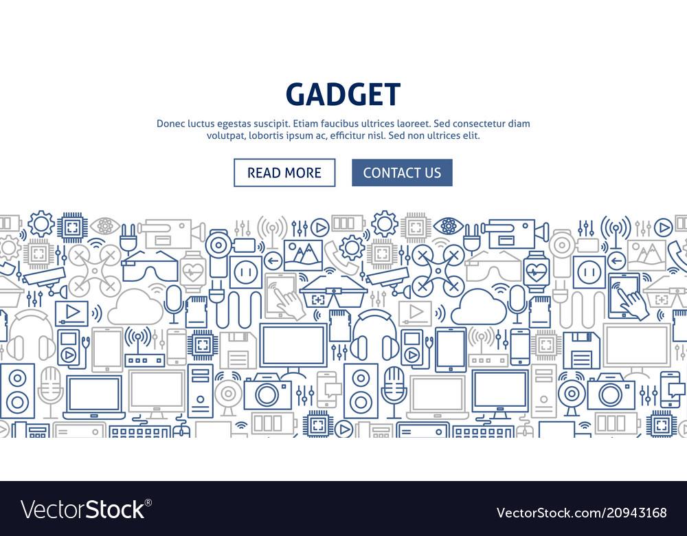 Gadget banner design