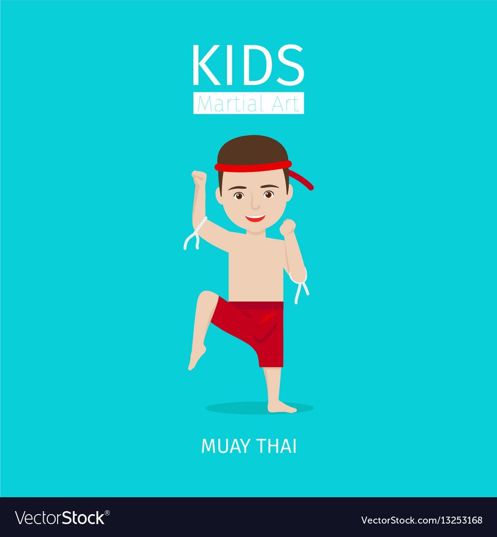 Kids martial art muay thai boy