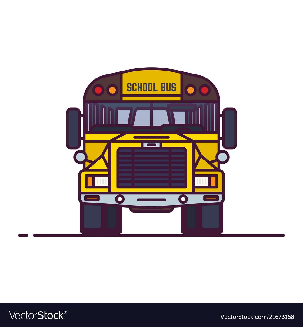 Line classic yellow school bus