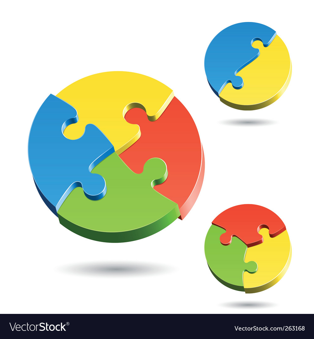 Shapes of jigsaw puzzle vector image