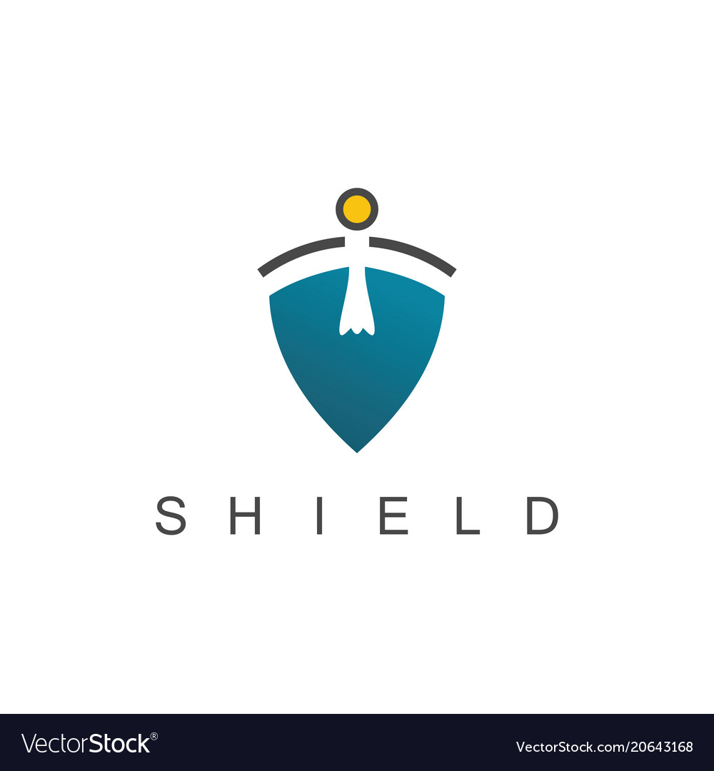 Shield man logo