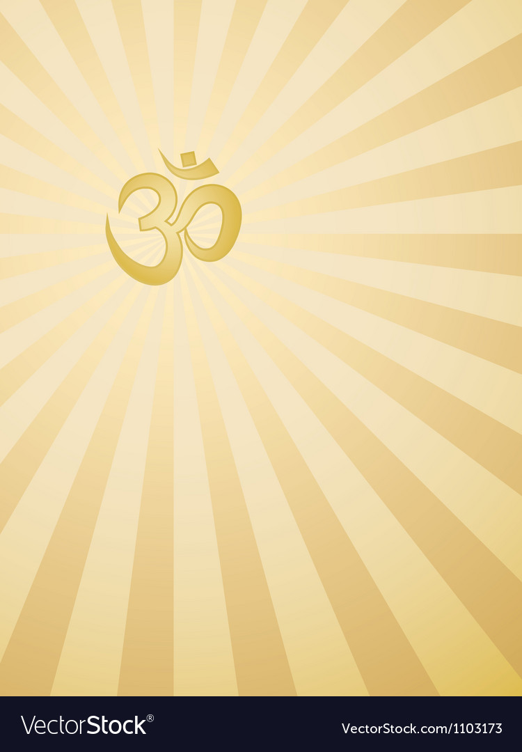 Background with Om sign vector image