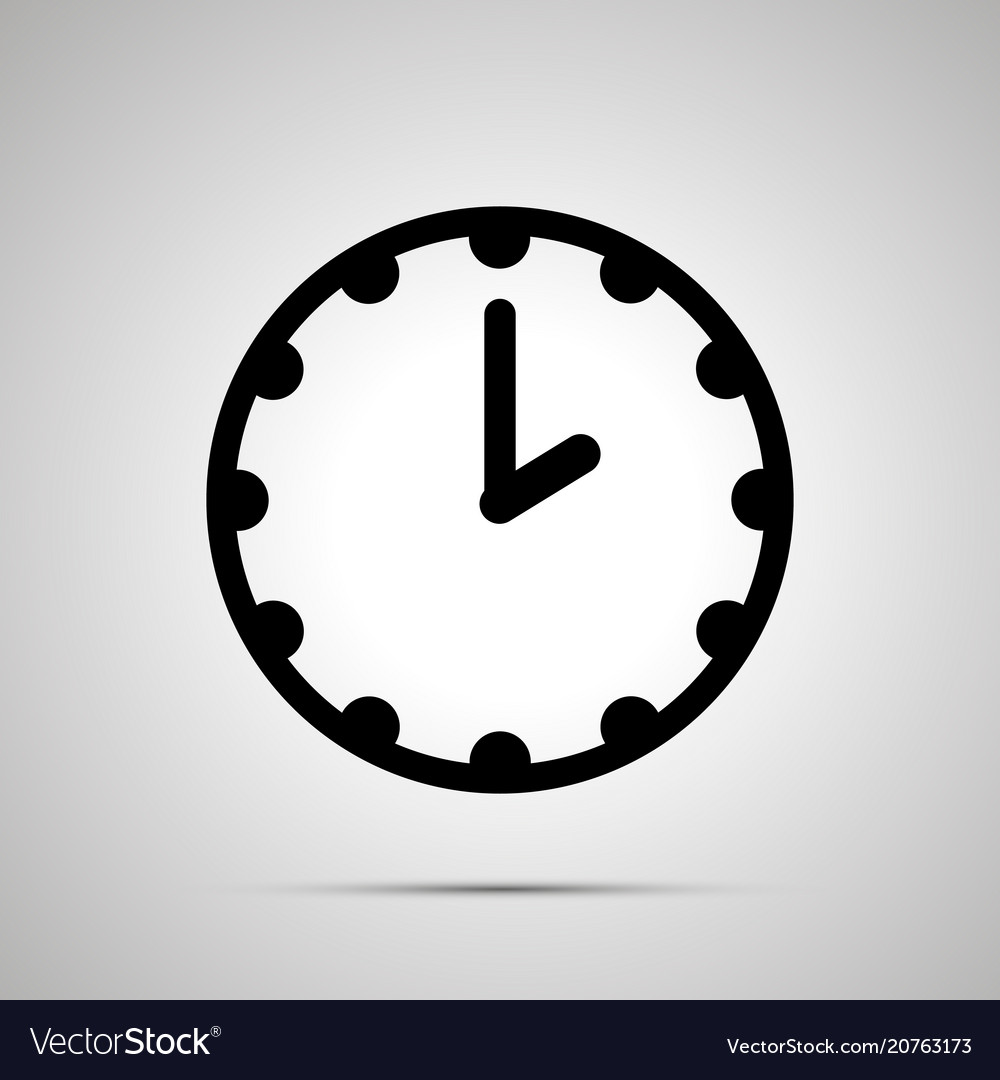 Clock face showing 2-00 simple black icon on