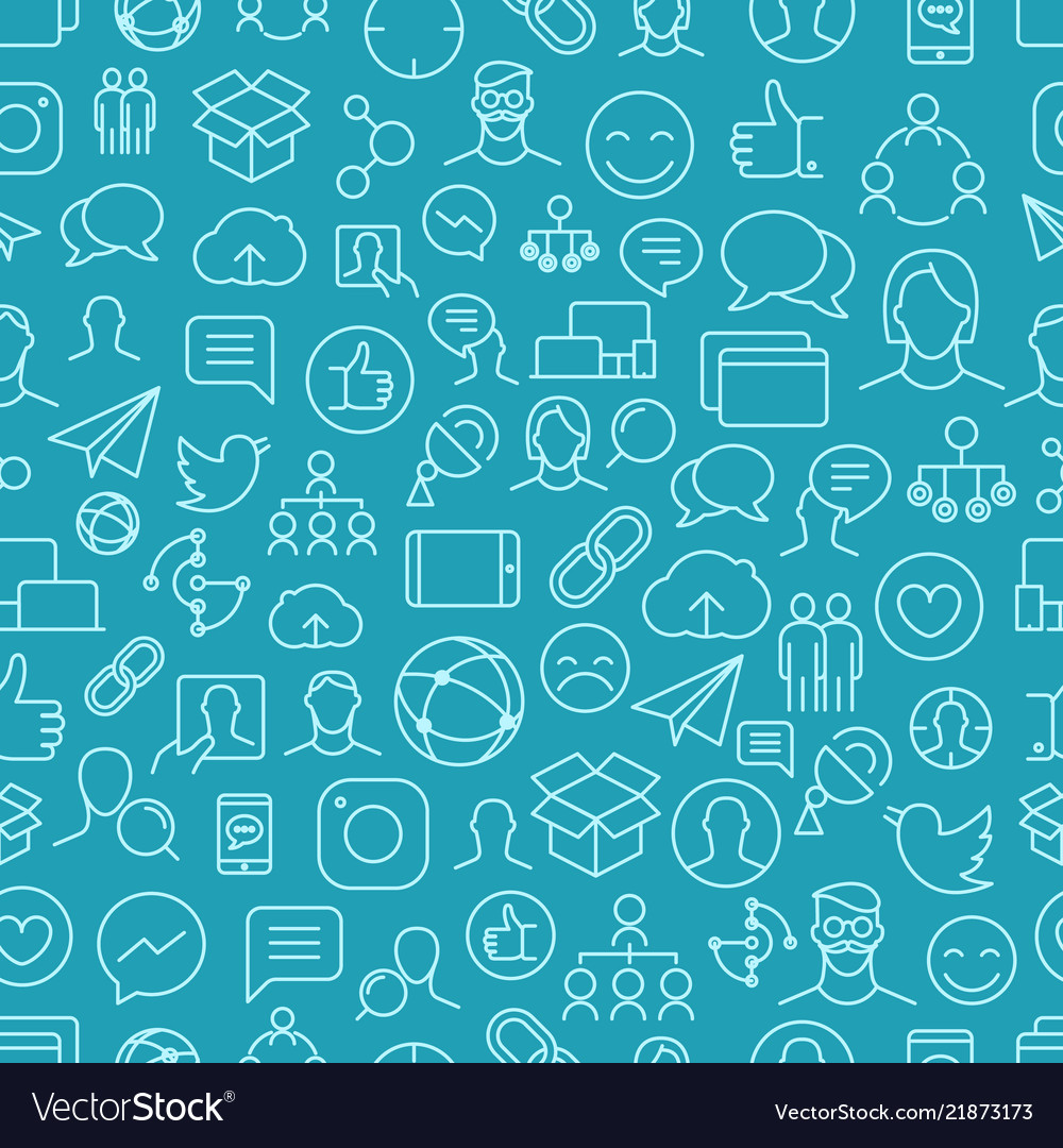Different network app icons seamless pattern