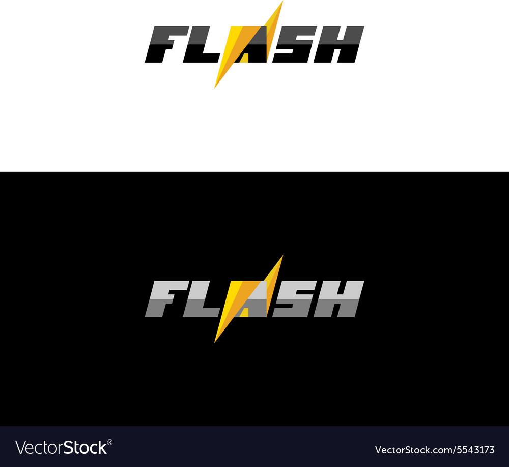 Flash lightning logo
