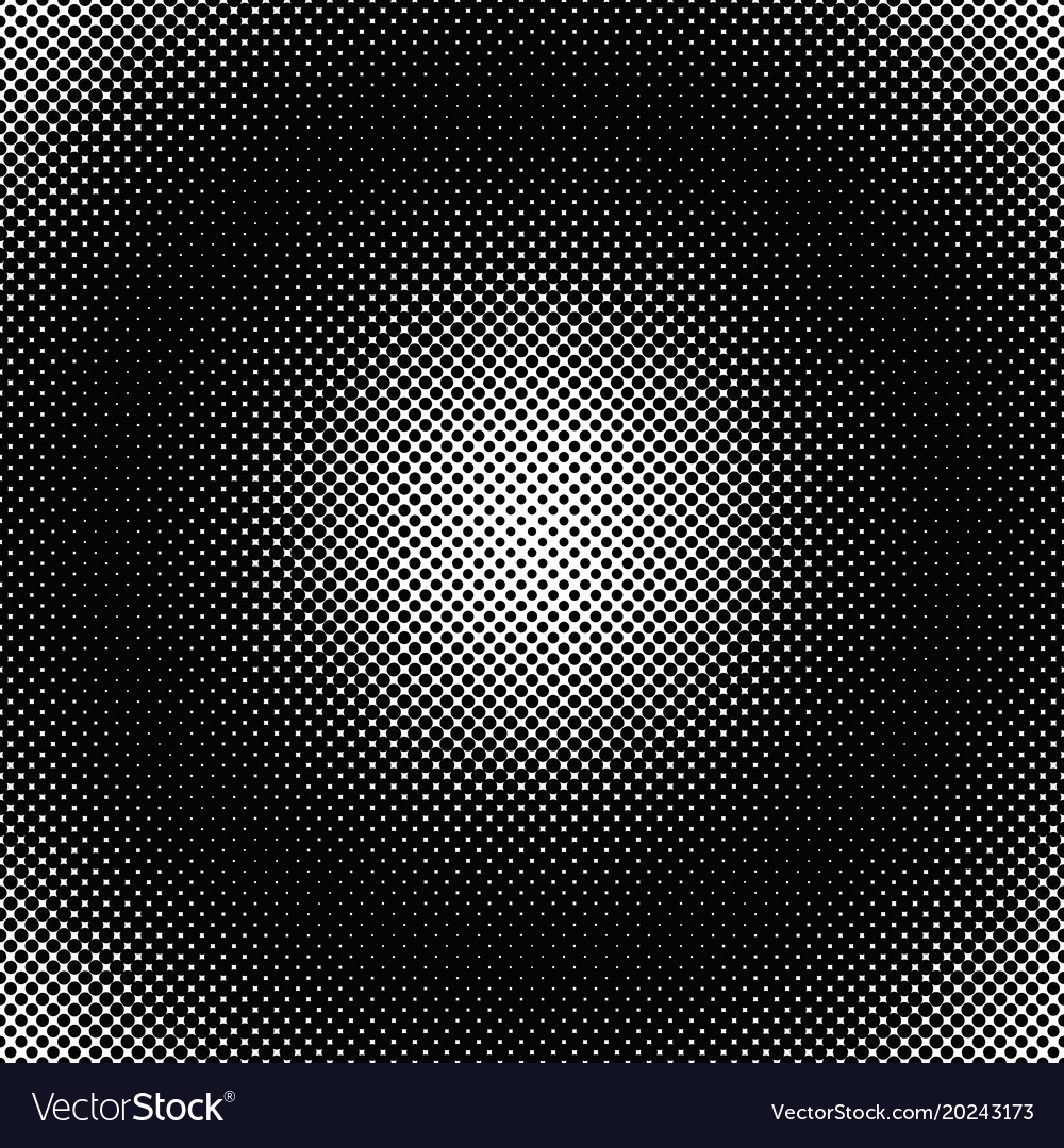 Geometric halftone dot pattern background from vector image