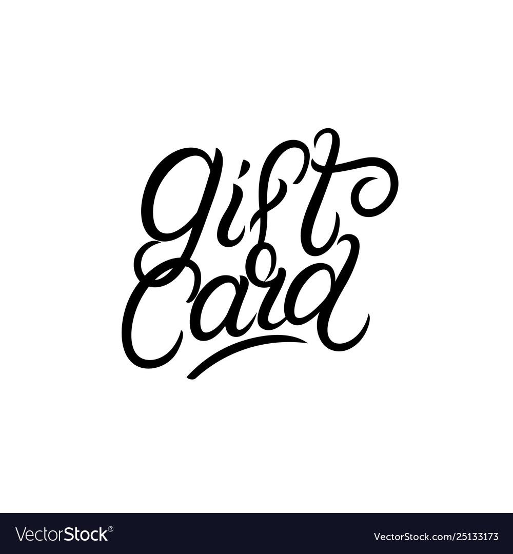 Gift card hand written lettering