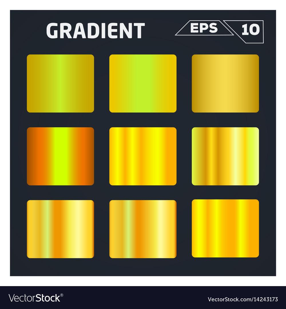 Gold gradient set