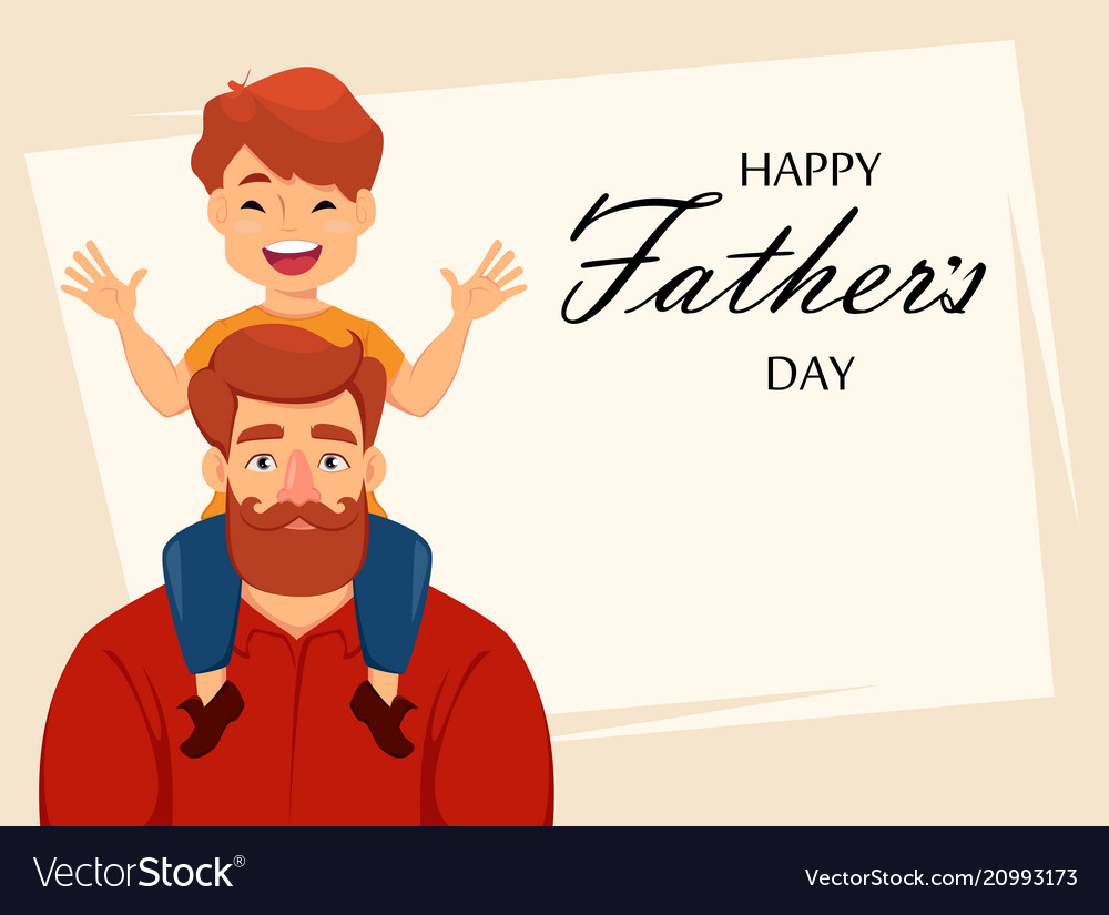 Happy Fathers Day Greeting Card Royalty Free Vector Image