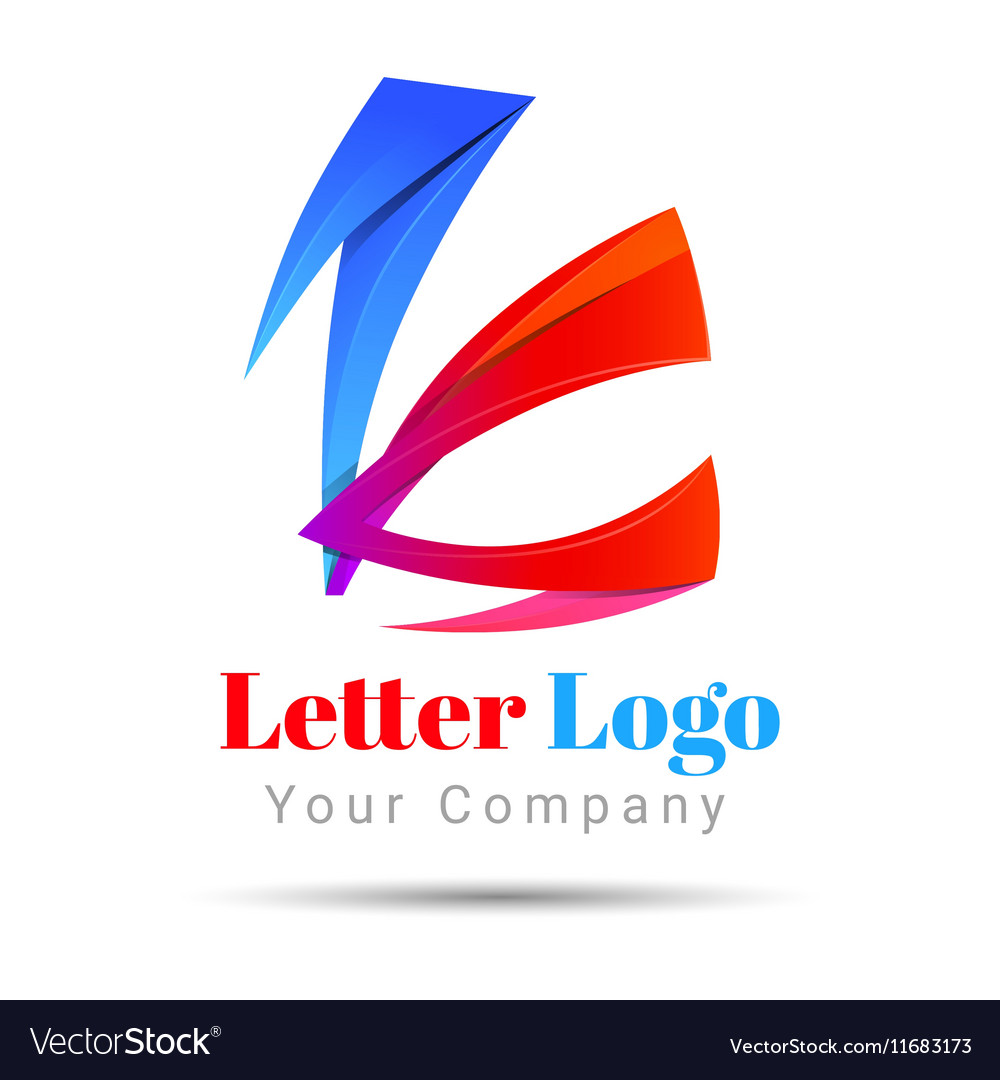 Letter K logo icon Volume Logo Colorful 3d Design