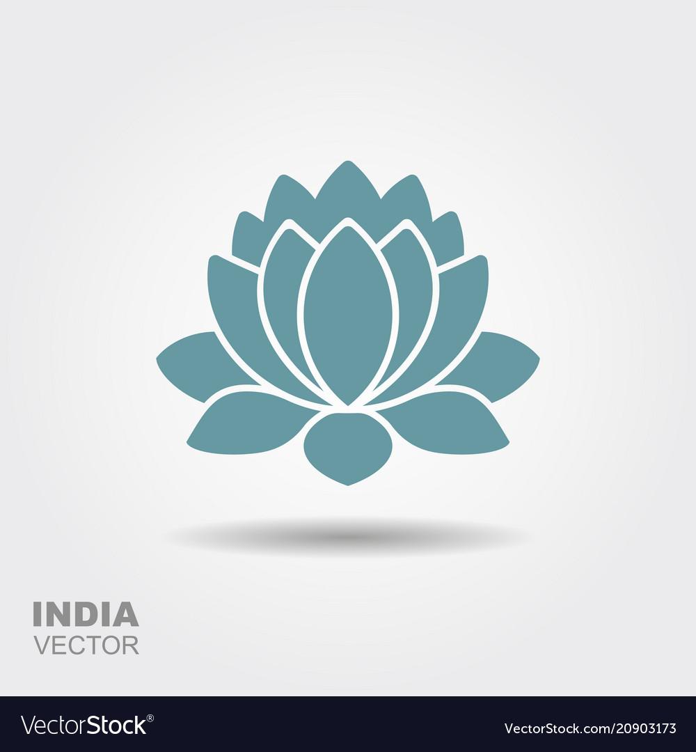 Lotus flower flat icon